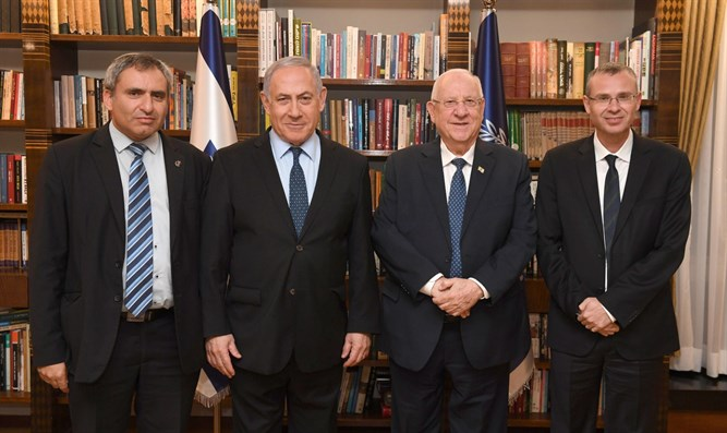 Rivlin in meeting with Netanyahu and Likud negotiating team