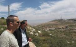 Gilad with Katzover in Elon Moreh