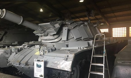 The tank (pictured) is currently in Moscow