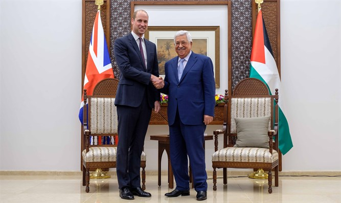 Prince William and Mahmoud Abbas